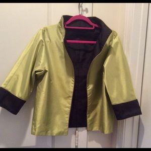 Reversible silk evening jacket